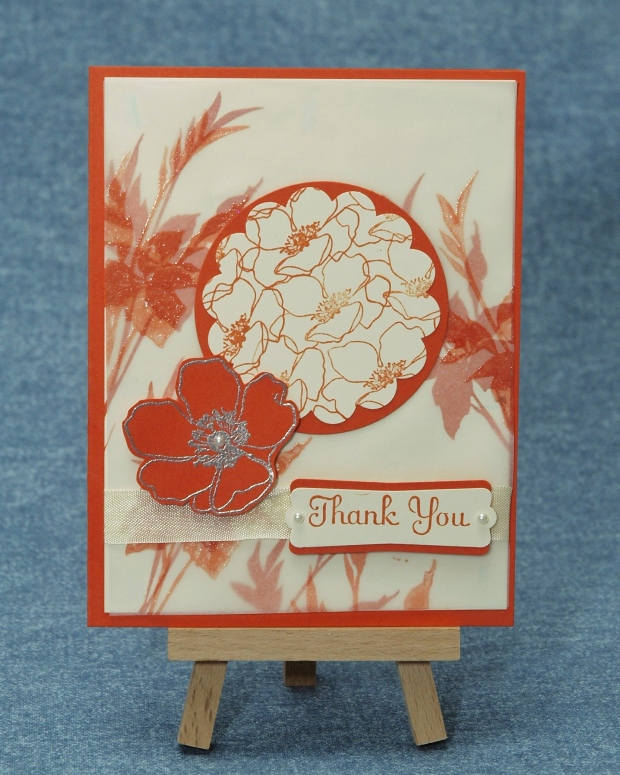 Heat Embossed Vellum Card