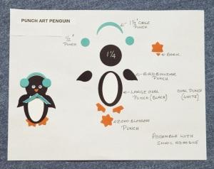 punch art penguin