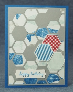 hexagon Hive male card