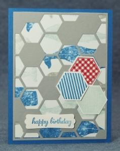 hexagon Hive male card